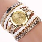 Armbanduhr Carude Leopard - Weiss