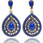 Ohrringe Drop Vintage Crystal - Blau