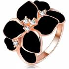 Ring Leaf Flower - Schwarz/59mm