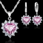 Set Zircon Heart - Rosa