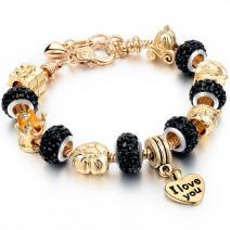 Armband Eternal -  Golden/Schwarz