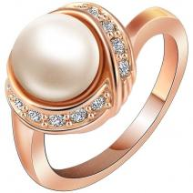 Ring Bridal Pearl - Golden/62mm
