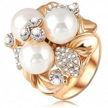 Ring Three Pearl - Golden/57mm