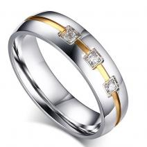 Ring Vow - Silber/Golden/65mm