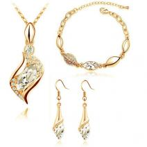 SW Set Rhinestone - Kristall/Golden