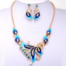 Set Enamel Butterfly - Blau