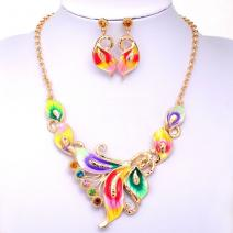 Set Enamel Butterfly - Multi