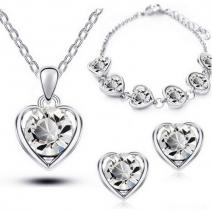 Set Love Heart - Kristall