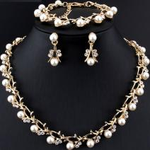 Set Pearl Bush - Golden/Weiss