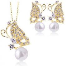 Set Pearl Butterfly - Golden