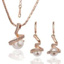 Set Rhinestone Pearl - Golden