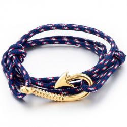 Armband Anchor - Blau/Golden