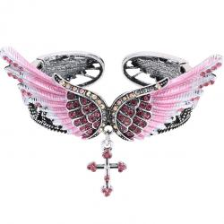 Armband Angel Cross - Rosa