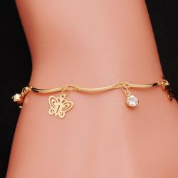 Armband Gold Butterfly - Golden