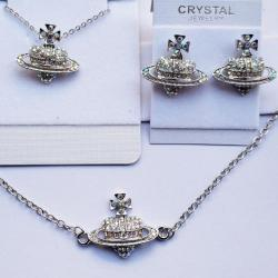 Cross Heart Set-Silber