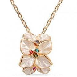 Halskett Leaf Flower - Golden/Rosa