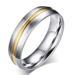 Herrenring Vow - Silber/Golden/52mm