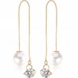 Ohrringe Cute Pearl - Golden/Typ1