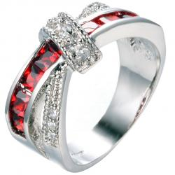 Ring Divine - Silber/Rot - 49,3mm