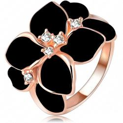 Ring Leaf Flower - Schwarz/62mm
