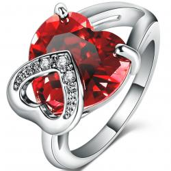 Ring Red Heart - Silber/59mm