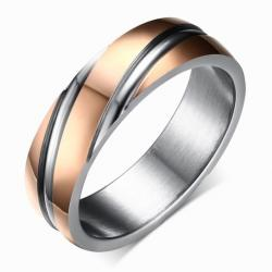 Ring Twist - Golden/Rosa/57mm