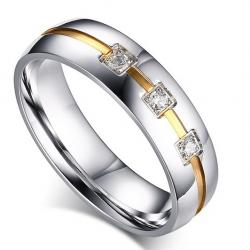 Ring Vow - Silber/Golden/62mm
