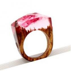Ring Wood Resin Typ1-Rosa/57mm