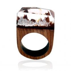 Ring Wood Resin Typ2-Kristall/59mm
