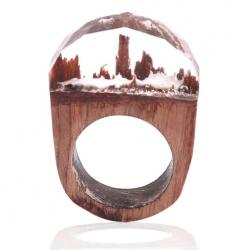 Ring Wood Resin Typ3-Kristall/59mm