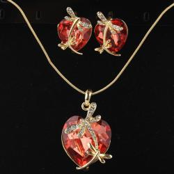 Set Dragonfly Crystal - Rosa