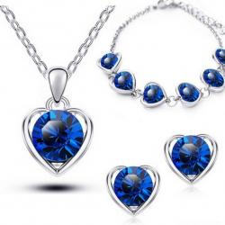 Set Love Heart - Blau