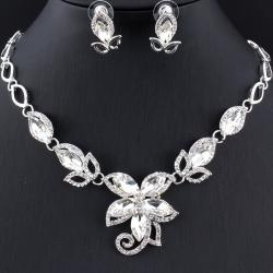 Set Splendor Flower - Silber/Kristall