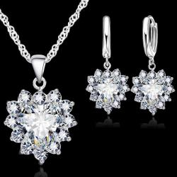 Set Zircon Heart - Kristall