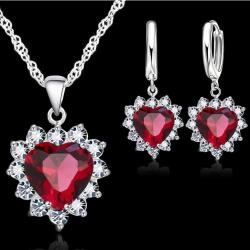 Set Zircon Heart - Rot