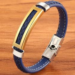 Theo Herrenarmband-Blau/Golden