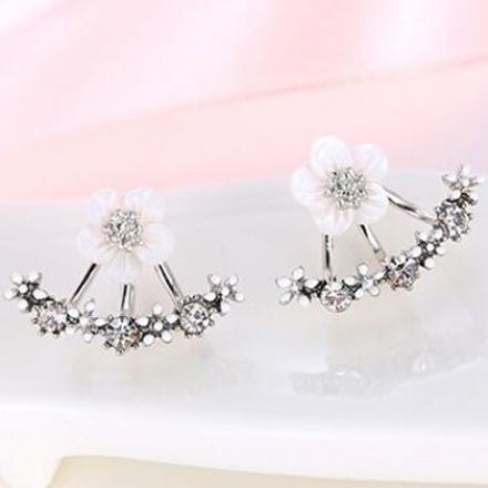 Ohrringe Flower Bow - Silber